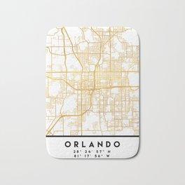 ORLANDO FLORIDA CITY STREET MAP ART Bath Mat