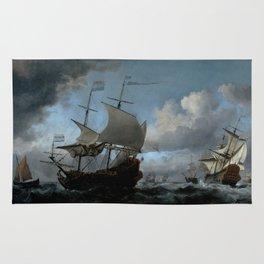 """Willem van de Velde """"The Dutch Fleet Assembling"""" Rug"""
