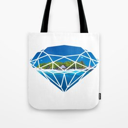 An island in diamond Tote Bag