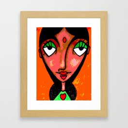 INDIRA Framed Art Print