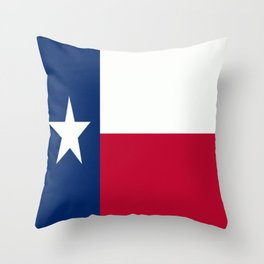 Lone Star ⭐ Texas State Flag Throw Pillow