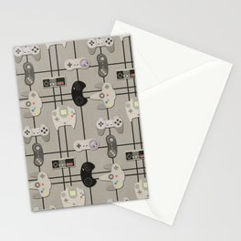 Paper Cut-Out Video Game Controllers Stationery Cards