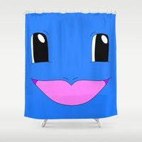squirtle Shower Curtains featuring Squirtle! by kltj11