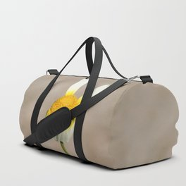 Hippie flower making peace sign Duffle Bag