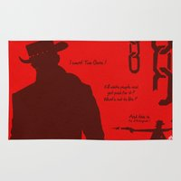 django Area & Throw Rugs featuring Vector Django Unchained by LoweakGraph