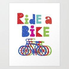 Ride a Bike - Sketchy Art Print