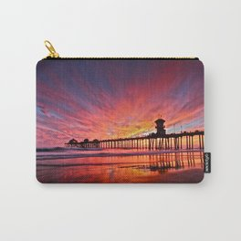 Sunset Huntington Beach Pier CA   Carry-All Pouch