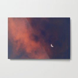 Hide and Go Find Moon Metal Print