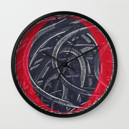 Junction- red graphic Wall Clock