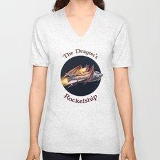 The Dragon's Rocketship Unisex V-Neck