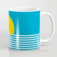 sunrise Mugs featuring Sunrise by FLATOWL