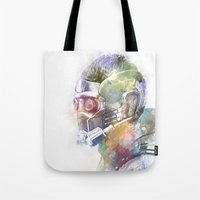 star lord Tote Bags featuring Star-Lord by NKlein Design