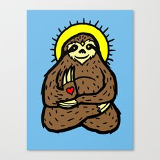 Buddha Sloth Canvas Print