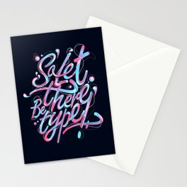 So, let there be type Stationery Cards