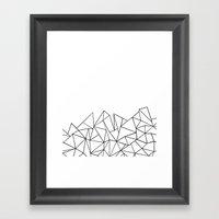 Ab Peaks White Framed Art Print