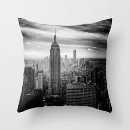 Black and White NYC Throw Pillow