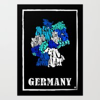 germany Art Prints featuring Germany by HNLdesign