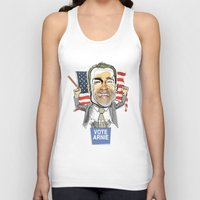 arnold Tank Tops featuring Arnold Schwarzenegger by Studio Drawgood