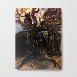 The Owl and Old Gnarly Metal Print