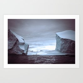Icy scale Art Print