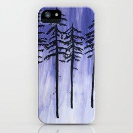 Lavender Pine Trees iPhone Case