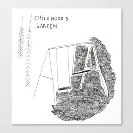 Childhood's garden Canvas Print