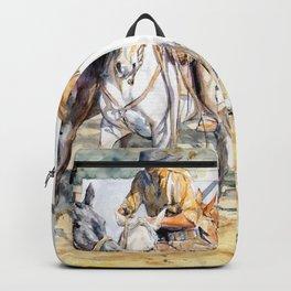 """Blanco, zaino y gateado"" Backpack"