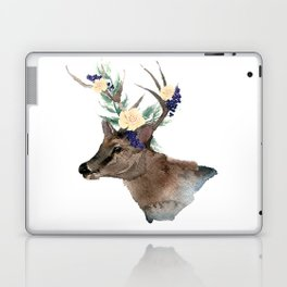 Boho Chic Deer With Flower Crown Laptop & iPad Skin