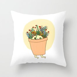 Potted Pal Throw Pillow
