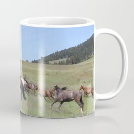 Running Horses Photography Print Coffee Mug
