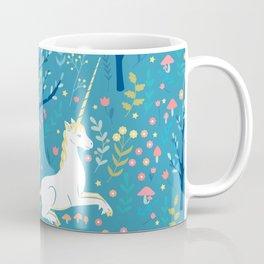 Teal unicorn garden Coffee Mug
