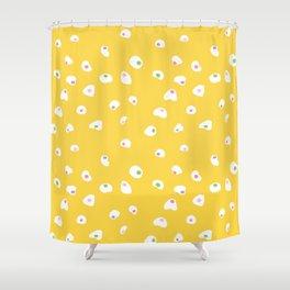 Splattered Egg Pattern Shower Curtain