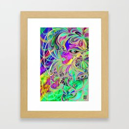 Planet Claire Psychedelic Painting Framed Art Print