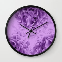 Purple Peonies Dream #1 #floral #decor #art #society6 Wall Clock