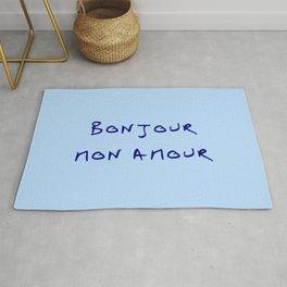 Bonjour mon amour - 2 blue Rug