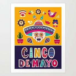 Cinco de Mayo – Scull Art Print
