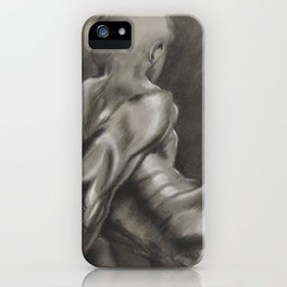 Nude Male Figure Study, Black and White.  iPhone Case