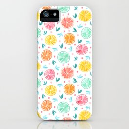 Sliced Citrus - Grapefruits, Oranges, Lemons, Limes iPhone Case