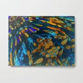 spacecraft colored fractal Metal Print