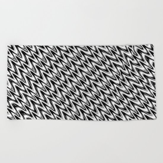 Black and White 3 Beach Towel
