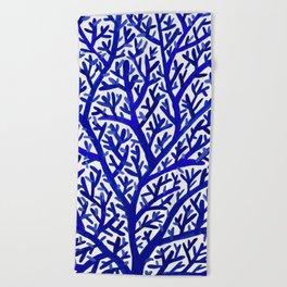 Fan Coral – Navy Beach Towel