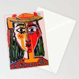 Head of a woman in a Hat Picasso Stationery Cards
