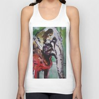 baby elephant Tank Tops featuring baby elephant & big elephant by Dan Feit
