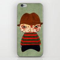 freddy krueger iPhone & iPod Skins featuring A Boy - Freddy Krueger by Christophe Chiozzi