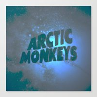 arctic monkeys Canvas Prints featuring Arctic Monkeys by SLIDE