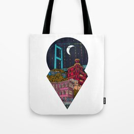 Night carries the lights Tote Bag