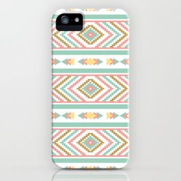 Abstract Tribal Native Geometric Pattern - Bohemian Festival Colorful iPhone Case
