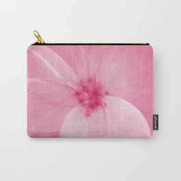 Pink Fairy Blossom Fractal Carry-All Pouch