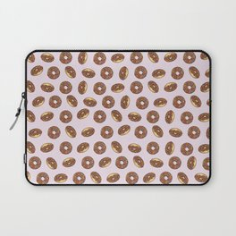 Chocolate Donuts on Pink Laptop Sleeve