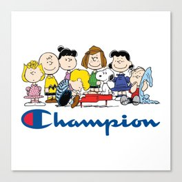 Snoopy and The Peanuts Gang Canvas Print